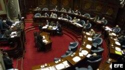 Vista general del Senado uruguayo.