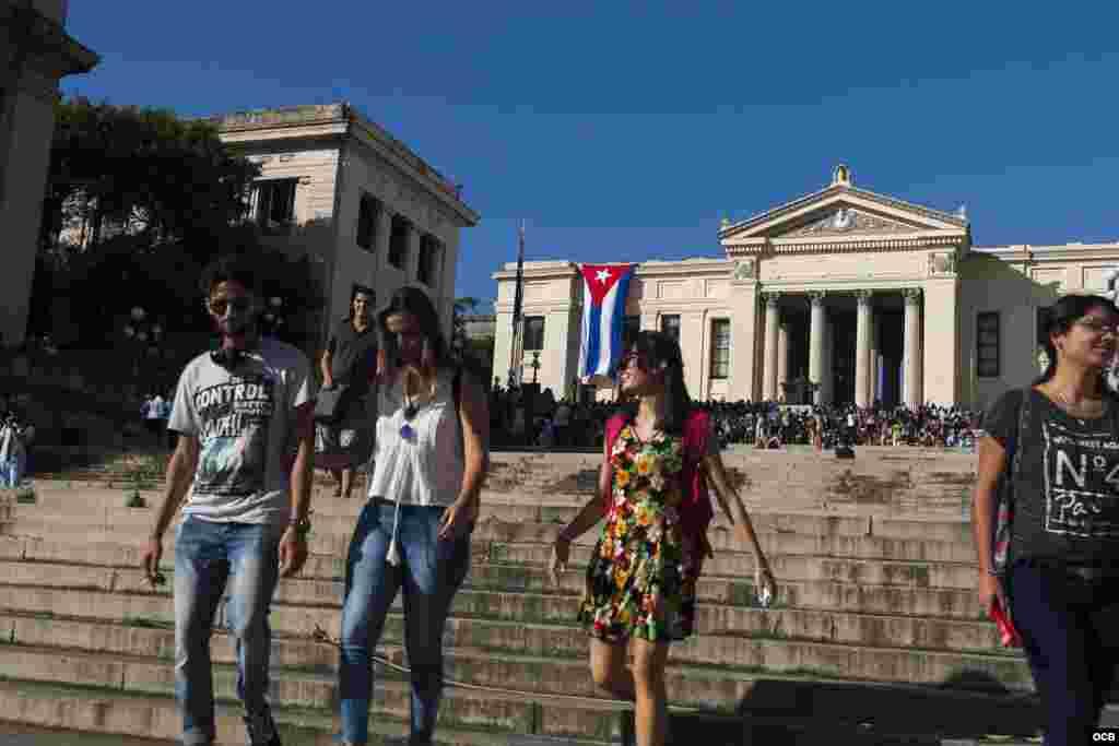Curso Escolar 2017-2018, en la Universidad de La Habana, Cuba.