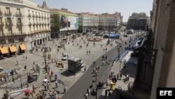 Vista general de la madrileña Puerta del Sol