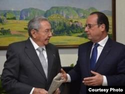 Raúl Castro se reunirá el lunes en el Palacio del Elíseo con el presidente francés, Francois Hollande.