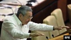 Raúl Castro, durante la sesión de clausura de la Asamblea cubana, en La Habana (diciembre, 2014).