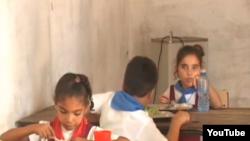 Reporta Cuba. Comedor escolar en Güira de Melena.