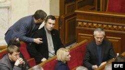 Renuncia premier ucraniano y Rada revoca leyes