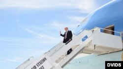 Donald Trump de visita en Cayo Hueso.