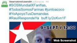 Tuitazo Mundial por Guillermo Fariñas.