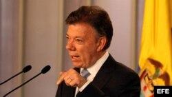 Fotografía de archivo del presidente de Colombia, Juan Manuel Santos.