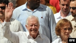 El expresidente de Estados Unidos, Jimmy Carter.
