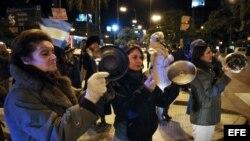 Manifestantes en Argentina