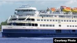 El crucero costero Saint Laurent, con el que Haimark quiere operar en Cuba.