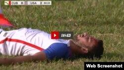 El futbolista Steve Birnbaum recibió una patada en la frente.Tomado de www.us.as.com