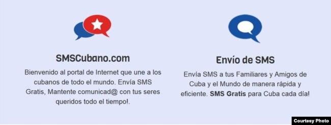 SMS Cubano, aplicación móvil.