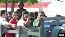 Imagen de archivo de migrantes cubanos en el estado mexicano de Quintana Roo.