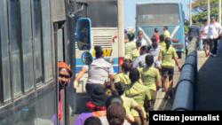 Reporta Cuba. Detenciones en La Habana, domingo 22 de febrero. Foto: Primavera Digital.