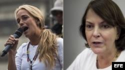 Lilian Tintori y Mitzy Capriles.