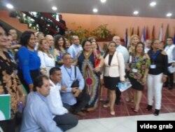 Imagen captada durante la reunión de jefes de las misiones médicas en el exterior.