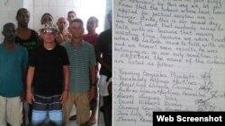 Los migrantes cubanos se quejan de maltratos en el Centro de Detención Carmichael Road, en Nassau.