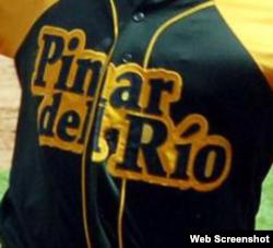 Uniforme del equipo Pinar del Río.