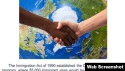 Programa de Diversidad de Visas o Lotería de Visas.