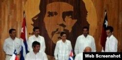 El contrato de asociación económica entre empresas de Cuba y Chile fue suscrito en La Habana. Tomado del sitio Aminera.com