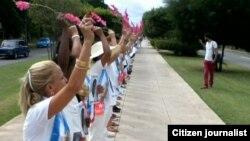 Reporta Cuba Damas de Blanco Foto de Angel Moya cortesia para Reporta Cuba