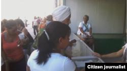 Reporta Cuba Tienda El Luxor Santiago de Cuba. Foto: @Amelunpacu1.