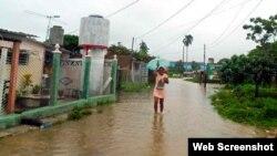 Inundaciones afectan a la provincia de Pinar del Río