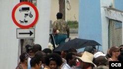 Una señal en Santiago de Cuba.