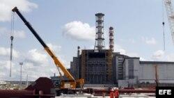 Nuevo sarcófago en Chernobil.