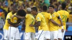 Jugadores de Brasil.