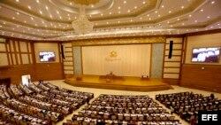 Vista general de la sesión de la Cámara Baja del Parlamento birmano en Naypyidaw (Birmania).