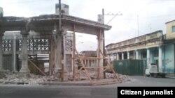 Reporta Cuba. Derrumbe en La Habana. Foto: Vladimir Turró.