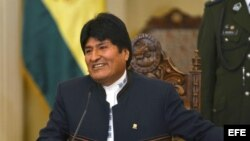 Fotografía de archivo del presidente de Bolivia, Evo Morales.