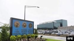 Vista de la entrada a la sede de la Agencia de Seguridad Nacional (NSA, según sus siglas en inglés) estadounidense, en Fort Meade, Estados Unidos