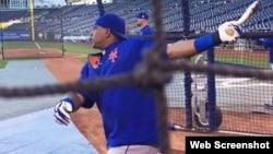 Yoenis Céspedes, el jardinero central de los Mets de Nueva York.