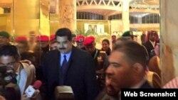 Nicolas Maduro a su llegada a Riad, capital de Arabia Saudita.