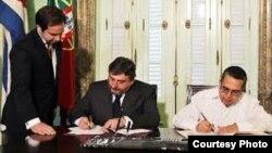 Acuerdos firmados entre Cuba y Portugal.
