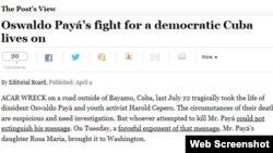 Editorial del Washington Post