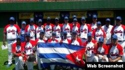 Equipo cubano de béisbol sub 15.