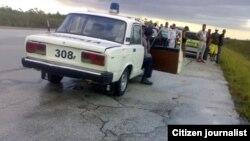 Reporta Cuba. Accidente en la Autopista Nacional. Foto: Mario Lleonart.