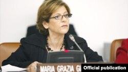 Maria Grazia Giammarinaro, relatora especial de la ONU sobre tráfico de personas. (Foto: Naciones Unidas)