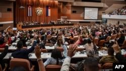 una sesión parlamentaria de la Asamblea Nacional del Poder Popular celebrada el pasado 19 de abril de 2018.