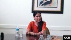 Yoani Sánchez en el Cuban Heritage Collection de la Universidad de Miami