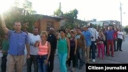 Activistas de UNPACU antes del arresto en el reparto Altamira Santiago de Cuba