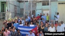 Un grupo de activistas de UNPACU.