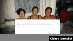 De izq. a der., María Mercedes Benítez, Vismaika Amelo y Doraiza Correoso.