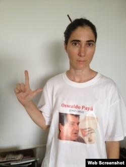 Yoani Sánchez @yoanisanchez 1 #Cuba Pequeno homenaje personal a @OswaldoPaya http://twitpic.com/aaungs