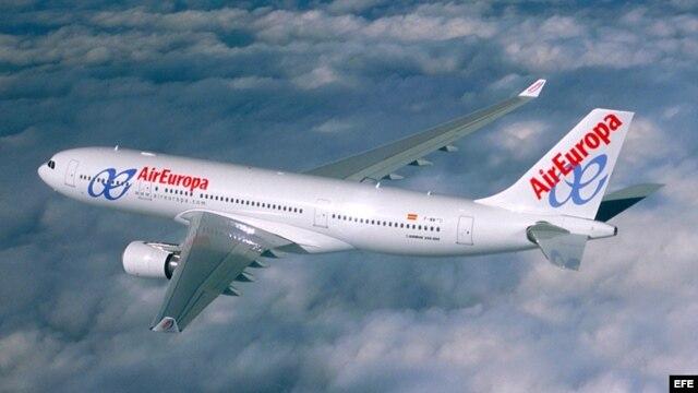 Air Europa planea hacer tres vuelos semanales más a Cuba a partir de abril próximo con sus aviones Airbus 330-200.