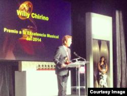 Willy Chirino en la entrega del premio a la Excelencia Musical. Foto: Omer Pardillo (cortesía).