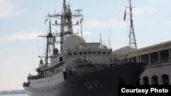 El buque espía ruso Leonov