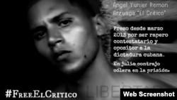 Poster a favor de la libertad del rapero cubano Angel Yunier Remón.